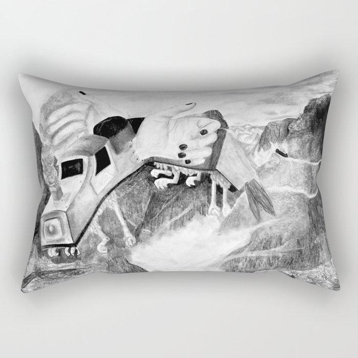Handscape Takes Flight Rectangular Pillow