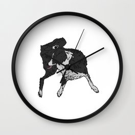 Dog Lover (Border Collie) Wall Clock
