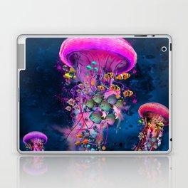 Floating Electric Jellyfish Worlds Laptop & iPad Skin