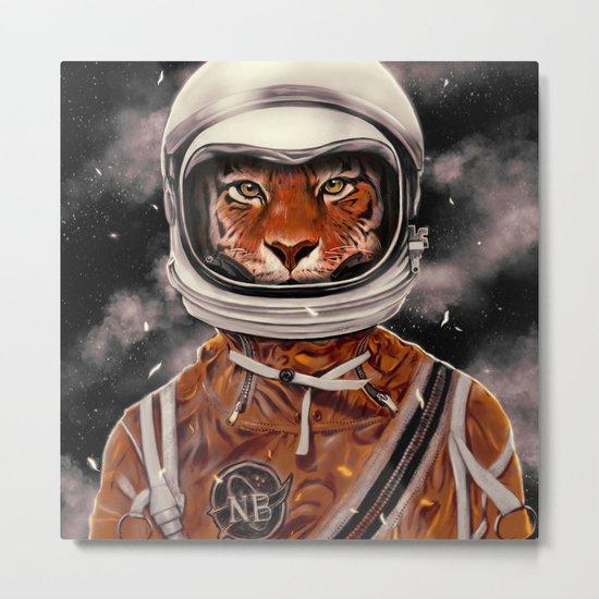 Tiger Astronaut Metal Print