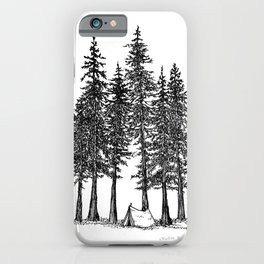 Camping with giants iPhone Case