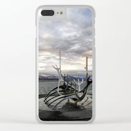 Sólfar - The Sun Voyager Clear iPhone Case