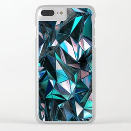 Dirty Poly Clear iPhone Case