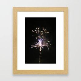 Fire works Framed Art Print