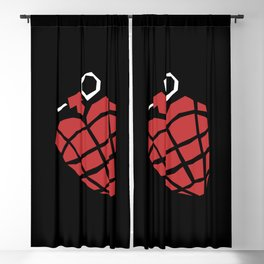 Heart Grenade Blackout Curtain
