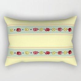 A Rosey Outlook Yellow Rectangular Pillow