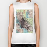 california Biker Tanks featuring California by Ursula Rodgers