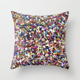 Colorful Rainbow Sequins Throw Pillow