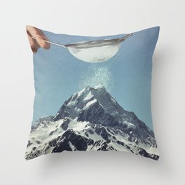 Sifted Summit II Throw Pillow