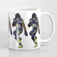 seahawks Mugs featuring Beast Mode by IllSports