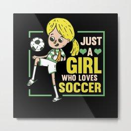 Soccer Football Sports Player Team Gift Metal Print