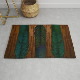 Brass and feathers Rug