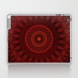 Dark and light red mandala Laptop & iPad Skin