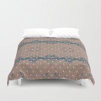 renaissance Duvet Covers featuring Renaissance - Peach by Abbie Clark Designs