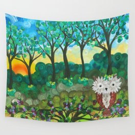 Owl Artwork By MiMi Stirn - Owl Expressions #364 Wall Tapestry