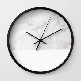 Modern pastel gray white elegant chic marble Wall Clock