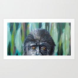 Chimpanzee Painting Art Print