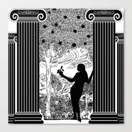 Antique Greek Columns Eve in the Garden Canvas Print