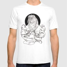 Walrus MEDIUM White Mens Fitted Tee