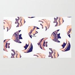 little purple fish pattern Rug