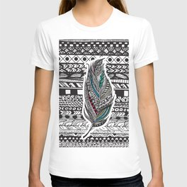 Aztec Feather. T-shirt