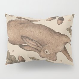 The Hare and Oak Pillow Sham