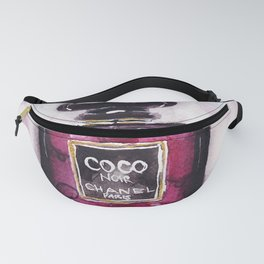 Noir perfume - Watercolor fashion illustration Fanny Pack