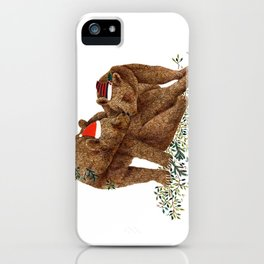 christmas bears iPhone Case