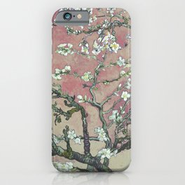 Almond Blossom - Vincent Van Gogh (pink pastel and cream) iPhone Case
