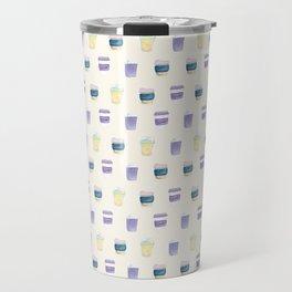 coffee cups pattern Travel Mug