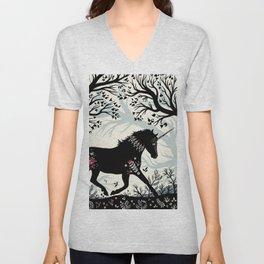 Folk Unicorn Unisex V-Neck