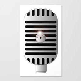 Classic Microphone Canvas Print