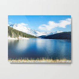 Clinton Gulch // Day Light Mountain Lake Forest Snow Peak Landscape Photography Hiking Decor Metal Print