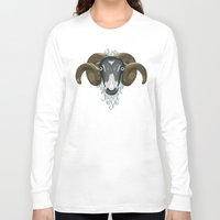 ram Long Sleeve T-shirts featuring Ram by Compassion Collective