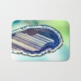 Blue purple geode Bath Mat