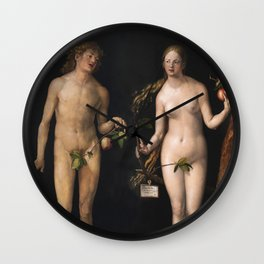 Albrecht Durer - Adam And Eve Wall Clock