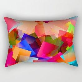 Play with transparent cubes and plates Rectangular Pillow