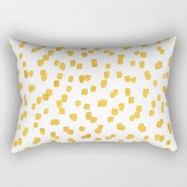 Gold Sprinkles Rectangular Pillow