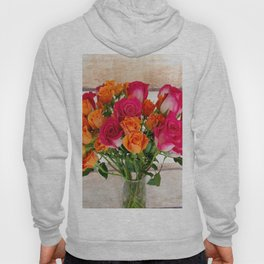 Colorful Rose Bouquet Hoody