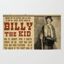 Billy The Kid Mug Shot Wanted Poster Rug
