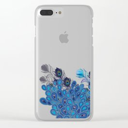 Paisley Peacocks Feather Invasion Clear iPhone Case