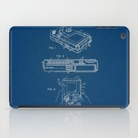 gameboy iPad Cases featuring Gameboy blue Patent by Patent Drawing