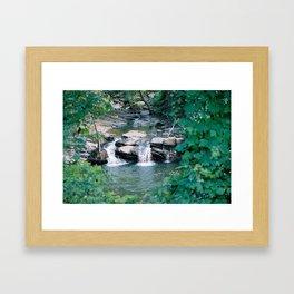 Up the shallow stream Framed Art Print
