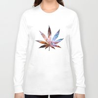 marijuana Long Sleeve T-shirts featuring Marijuana Leaf - Design 2 by Spooky Dooky