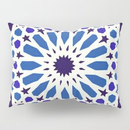 V19 Epic Light Blue Traditional Moroccan Pattern Design . Pillow Sham