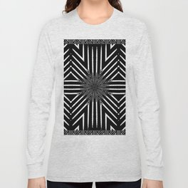 Tribal Black and White African-Inspired Pattern Long Sleeve T-shirt