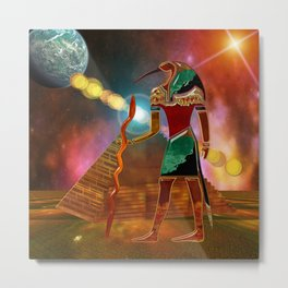 Ancient Secrets THOTH 3D Scifi Egyptian Metal Print