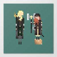 legolas Canvas Prints featuring Legolas & Gimli by LOVEMI DESIGN