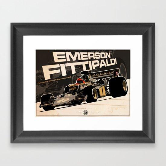 Emerson Fittipaldi - F1 1973 Framed Art Print
