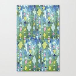 Geometric Slide in Cool Blue Canvas Print
